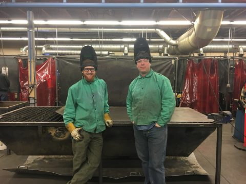 CCNN Welding and Fabrication Students